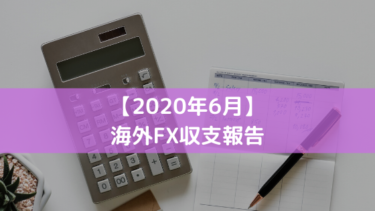 2020年6月のFX収支報告